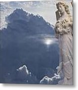 Angel In The Clouds Metal Print