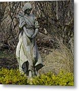 Angel In The Garden Metal Print