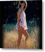 Angel In The Grasses 3 Metal Print