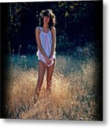 Angel In The Grasses Metal Print