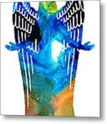Angel Of Light - Spiritual Art Painting Metal Print