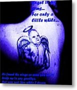 Angel On Her Shoulder Metal Print