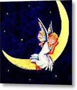 Angel On The Moon Metal Print