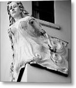 Angel Out The Window Metal Print