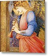 Angel Playing A Flageolet Metal Print