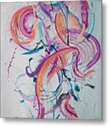Angel Playing Music Metal Print