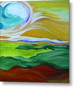 Angel Sky Green By Jrr Metal Print