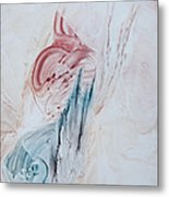Angel Wings And Feathers Metal Print