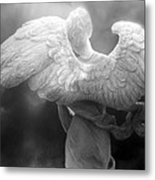 Angel Wings - Dreamy Surreal Angel Wings Black And White Fine Art Photography Metal Print