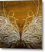 Angel Wings Gold Metal Print