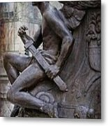 Angel With His Sword Metal Print