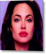 Angelina Jolie Beautiful Lips Metal Print