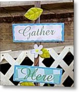 Angels Gather Here Metal Print