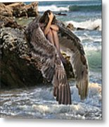 Angels- God Has Sent His Spirit To Comfort You And Heal You Metal Print