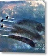 Angels Inna Clouds Metal Print
