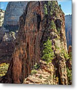 Angels Landing In Zion Metal Print