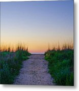 Angelsea Beach Path Before Sunrise Metal Print
