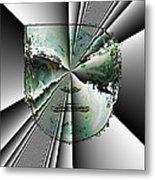 Anger Mask Metal Print