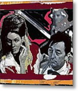 Angie Dickinson Robert Mitchum Pose Collage Young Billy Young Old Tucson Arizona 1968-2013 Metal Print