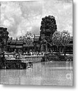 Angkor Black White Metal Print