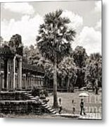 Angkor Wat Bw II Metal Print