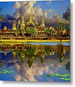 Angkor Wat Just Before Sunset Metal Print