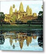 Angkor Wat Reflections 01 Metal Print
