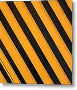 Angled Stripes Metal Print