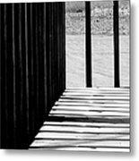 Angles And Shadows - Black And White Metal Print