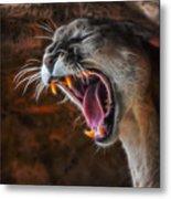 Angry Cougar Metal Print