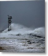 Angry Ocean In Ocean City Metal Print