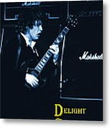 Angus Chords Delight Crowds In Blue Metal Print