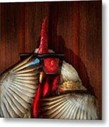 Animal - Chicken - Movie Night  Metal Print