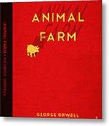 Animal Farm Book Cover Poster Art 2 Metal Print