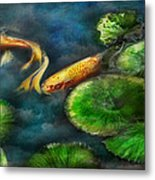 Animal - Fish - The Shy Fish  Metal Print by Mike Savad