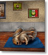 Animal - Squirrel - And Stretch Two Three Four Metal Print by Mike Savad