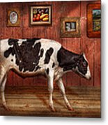 Animal - The Cow Metal Print by Mike Savad