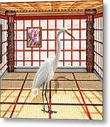 Animal - The Egret Metal Print by Mike Savad