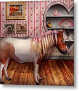 Animal - The Pony Metal Print by Mike Savad