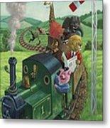 Animal Train Journey Metal Print by Martin Davey