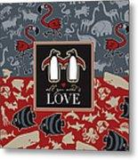 Animals And Love Metal Print