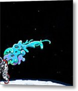 Animated Space Man Metal Print