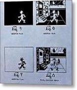 Animation Patent Metal Print