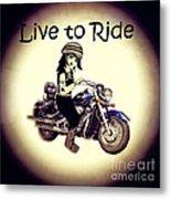 Anime Biker-live To Ride Metal Print