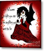 Anime Little Girl Vampire Metal Print by Eva Thomas