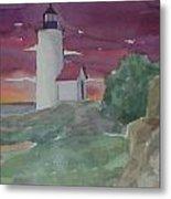 Anisquam Lighthouse Metal Print