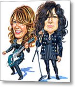 Ann And Nancy Wilson Of Heart Metal Print