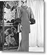 Anna May Wong In An Edith Head-designed Metal Print by Everett