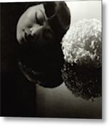 Anna May Wong Resting Her Head Metal Print