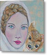 Annalina Litte Angel Of Graceful Light Metal Print